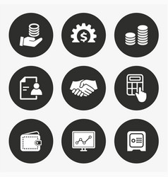 investments money icon set vector image