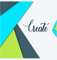 material design of abstract design elements vector image