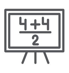 maths example line icon lesson and mathematical vector image