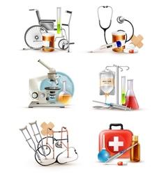 Medical Supply Elements Set vector