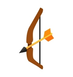 Medieval bow isometric 3d icon vector