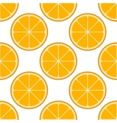 Orange slices seamless pattern vector image