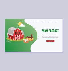 Organic farm products web vector