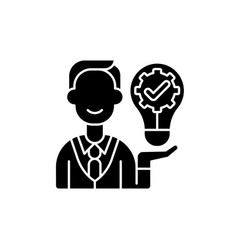 Ownership focus black glyph icon vector