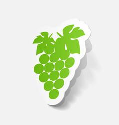 Paper sticker grapes vector