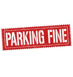 Parking fine grunge rubber stamp vector