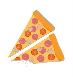 pepperoni pizza on a white background vector image