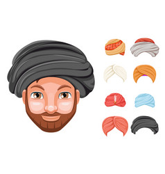 Photo decoration turban fashion headdress arab vector