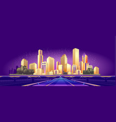 road to big city vector image