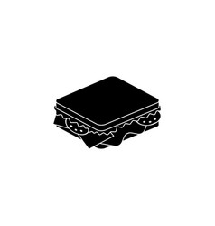 sandwich icon black on white vector image