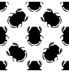 Seamless pattern with dor-beetle Geotrupidae vector image