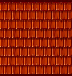 Seamless texture background red wooden roof vector