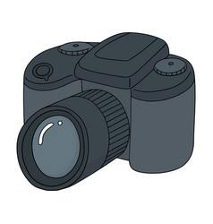 set of camera vector image