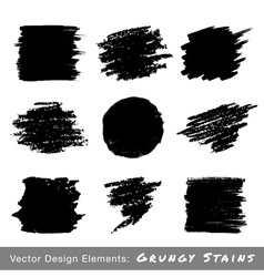 Set of Hand Drawn Grunge backgrounds vector image