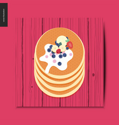 simple things - pancakes vector image