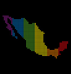 spectrum dot lgbt mexico map vector image