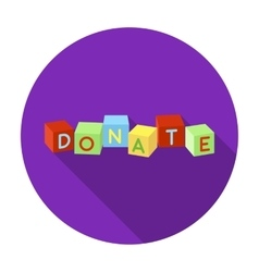 Toys donation icon in flat style isolated on white vector
