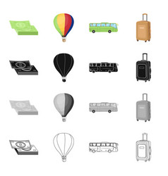 Trip travel entertainment and other web icon in vector