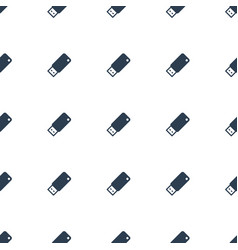 usb drive icon pattern seamless white background vector image