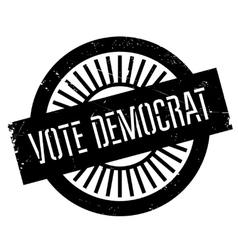 Vote democrat stamp vector image