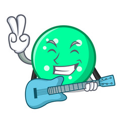 with guitar circle mascot cartoon style vector image