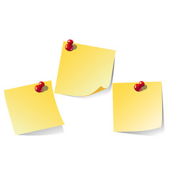 Yellow note isolated on white background vector