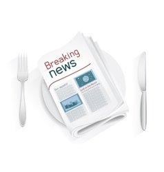 breaking news tablewares vector image