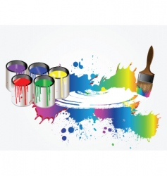 paint vector image vector image