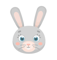 rabbit muzzle icon in cartoon style isolated on vector image vector image