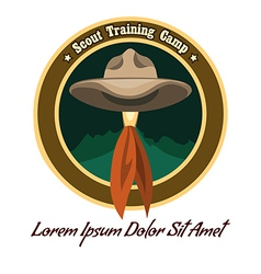 Scout logo vector image