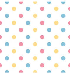 Colorful polka dot pattern in pastel colors vector image
