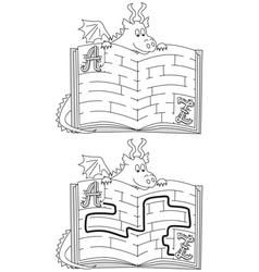 Dragon maze vector image