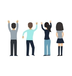 Fans people on white background vector image