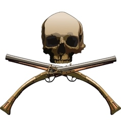 Jolly Roger with pistols vector image vector image