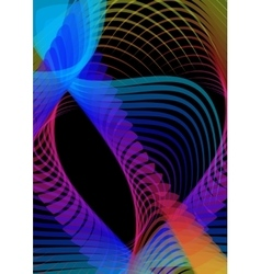 Psychedelic abstract black background with vector image