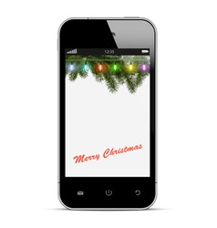 Christmas mobile phone vector image vector image