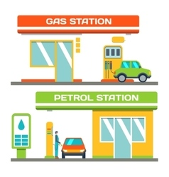 Gas and petrol station concept car at a gas vector image vector image