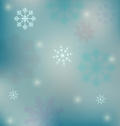 holiday winter background with snowflakes - vector image vector image