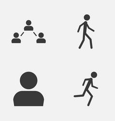 person icons set collection of running user vector image
