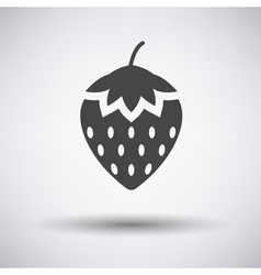 Strawberry icon on gray background vector image