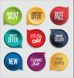 abstract modern sticker collection vector image vector image