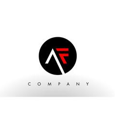 af logo letter design vector image vector image