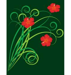an abstract background with flowers vector image vector image