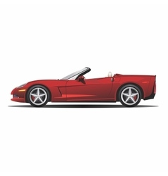convertible red car vector image