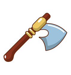 medieval ax weapon icon cartoon style vector image vector image