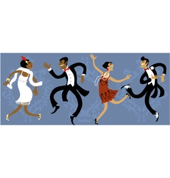 Roaring twenties party vector image