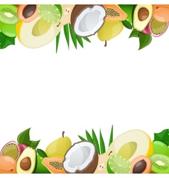 Two borders made of delicious ripe fruit vector image