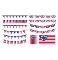 USA bunting and flags vector image