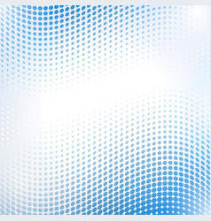 Abstract halftone wave in blue vector