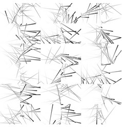 Abstract pattern with straight random lines vector